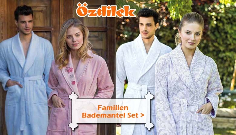 Ozdilek Familien-Bademantel-Set